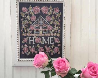 HANDS ON DESIGN Rose Cottage Sampler Summer #2 cross stitch patterns at thecottageneedle.com Chalk for the Home