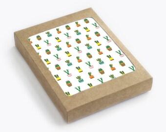 Tiny Cacti White - Pack of 8