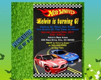 Hot Wheels Invitation  / Hot Wheels Birthday / Hot Wheels Party / Hot Wheels Invite / Hot Wheels Birthday Invite / Hot Wheels Party Invite