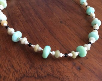 Necklace - Yellow and Blue Peruvian Opal