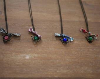 Tea Time - teapot necklace colors