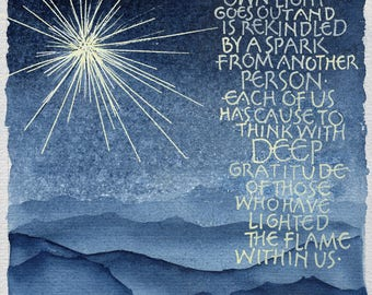 Light, with text by Albert Schweitzer