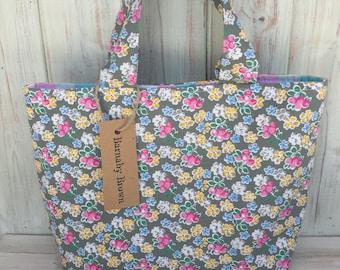 Floral Tote Bag,Tote Bag,Handmade Bag,Fully Lined,Fabric Bag,Fabric Tote  Bag, Handbag,Floral Fabric Bag,Great Gift,Floral Gift