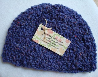 Washable Wool Crocheted Youth Girls Hat - Grapevine 220
