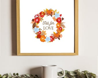 Pottery Barn Knock Off Fall For Love Printable