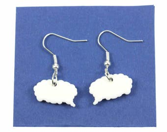 Speech Bubble Miniblings Comic Cartoon Manga Acrylic Cloud