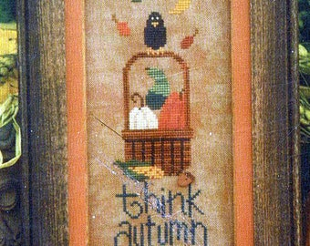 Think Autumn by Lizzie Kate Counted Cross Stitch Pattern/Chart