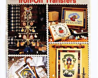 Noah's Ark Iron-On Transfers to paint on canvas paper wood fabric, Leisure Art leaflet,  LA 1874