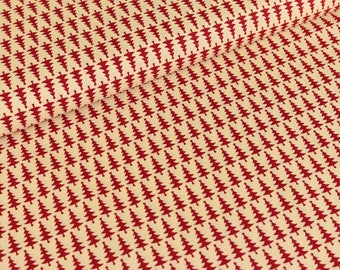 Cotton fabric joyful Christmas fir trees red / cream (9,50 EUR / meter)