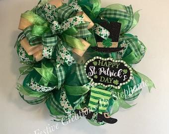 St. Patrick's Day Door Wreath