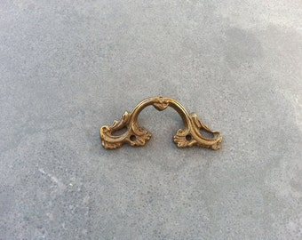1 Vintage brass handle - Drawer pull