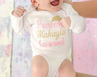 Newborn Girl  Coming Home Outfit Baby Girl Clothes  Baby Girl Gift Baby Girl Outfit Newborn Baby Girl Outfit The Princess Has Arrived