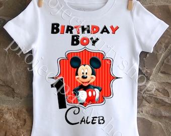 Mickey Mouse Birthday Shirt, Boys Mickey Birthday Boy Shirt