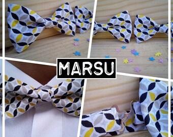"Collection ""MARSUPILAMI"" adult bowtie / men/teen/child/baby yellow black"