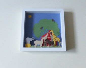 Table cut paper, Circus theme