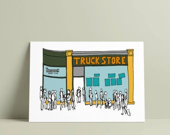 TRUCK STORE, Oxford A5 print