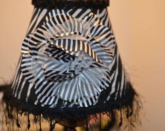 Zebra lamp shade etsy zebra lamp shade original shady lady shades by alice beaded trim aloadofball Gallery