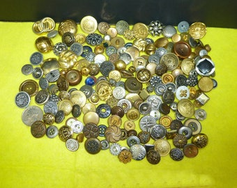 Old button lot-antique ornate vintage sewing collection