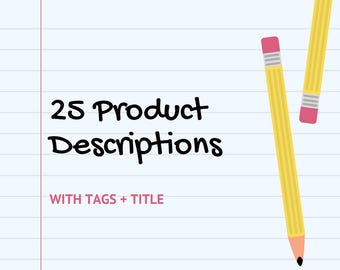 25 Product Descriptions With Tags + Titles