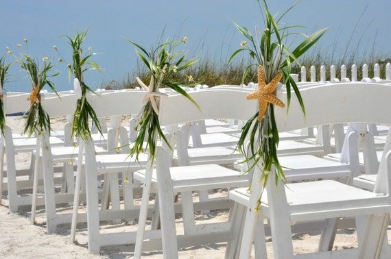 Beach wedding aisle chair decoration beach wedding starfish like this item junglespirit Images