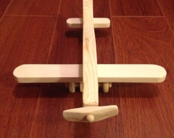 Wooden toy plane - free shipping