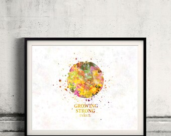 Game of thrones Tyrell Fine Art Print Glicee  Poster Watercolor Children's Illustration Wall - SKU 2786