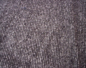Vintage woven wool fabric/Bag fabric/Cushion fabric/Winter wool fabric/Grey and black wool fabric/Shawl wool fabric/men fabric/Sewing fabric