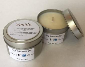 Vanilla 4oz Soy Wax Candle