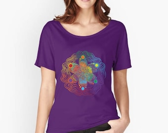 Womans Relaxed Fit T - Rainbow