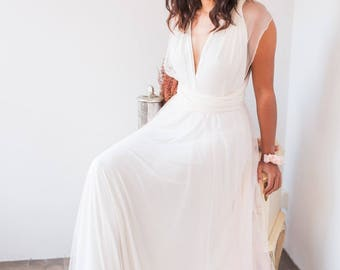 Wedding dress tulle, tulle bridal gown, soft tulle wedding dress, tulle wedding dress, rose quartz tulle dress, wedding dress flowy tulle