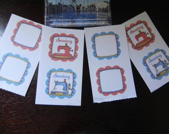 """4 small sheets of stickers """"sewing machine"""""""