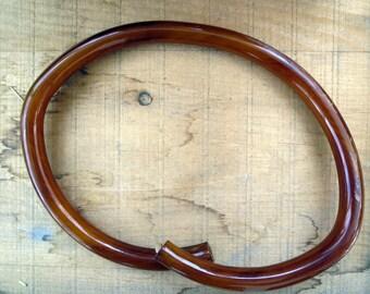 Huge Vintage Celluloid Purse Handle