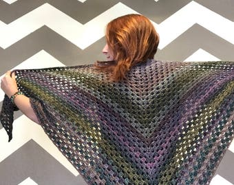 Triangle Shawl- Mermaid