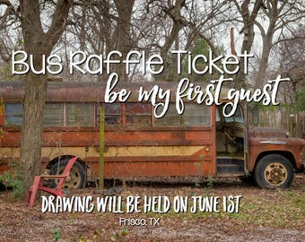 Raffle Ticket, Help Fund Schoolie Renovation and Have a Chance to Be the First Guest in the Most Amazing Air B-n-B on the Planet