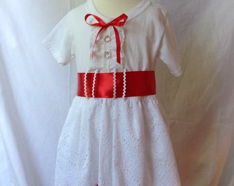 Mary Poppins inspired comfy t-shirt dress sizes 2, 3, 4, 5 (ages 2-3, 3-4, 4-5, and 5-6)