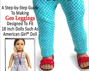 Pixie Faire Miche Designs Geo Leggings Doll Clothes Pattern for 18 inch American Girl Dolls - PDF