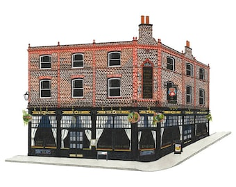 The Rose & Crown, Greenwich - Collectible Print