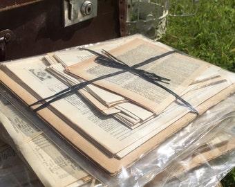 Scrapbooking Gift Pack Bundle | Junk Journal Kit | Vintage Book Pages | Old Paper Craft Packs | Junk Journal Kit | BUY 5 GET 6th FREE