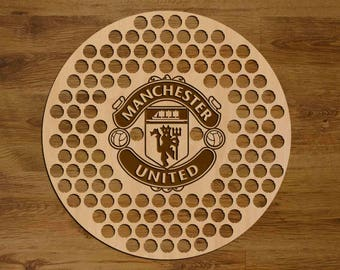 Manchester United Beer Bottle Cap Holder USA Laser Engraved Boyfriend Football Gift for Him, Gift for Dad, Groomsmen gift, Christmas Gift