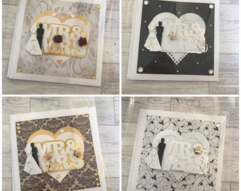 Luxury Mr and Mrs wedding cards