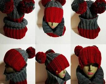 Pattern:  Crochet Hat and Scarf Pattern Bundle