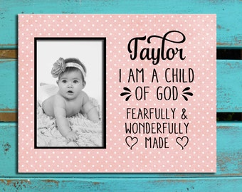 Child of God print, personalized nursery decor, baptism gift, personalized baby gift, dedication gift, baptism,