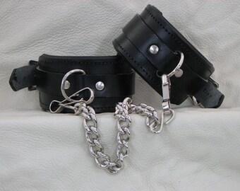 Leather Wrist Restraint/Cuffs