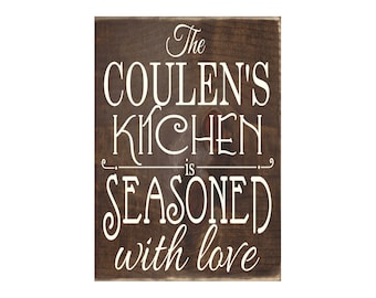 Personalized Custom Kitchen Wooden Plaque / Wood Sign / Kitchen Decor / Home Decor  (#1669)
