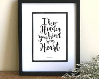 I Have Hidden Your Word Digital Print
