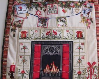 Advent calendar/fabric advent calendar/quilted calendar