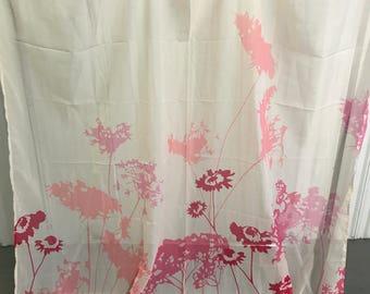 Vintage inspired pink shower curtain