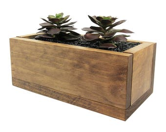 Cactus Planter, Succulent Gift, Succulent Planter, Planter Box, Indoor Planter, Wooden Planter, Modern Planter, Succulent Pot, Gift for Her