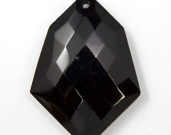30mm Black Faceted Pendant  #1929