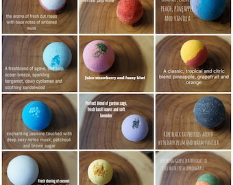 Bath Bomb Set 12 Ultra Lush Handmade Fizzies Shea Cocoa Butter Moisturize Dry Skin Luxurious Premium Quality